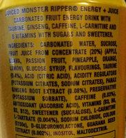 Ripper Juiced - Ingrédients - en