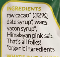 Raw Cacao Chocolate Sauce - Ingredients - en