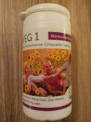 VEG 1 Multivitamin Chewable Tablets - Product