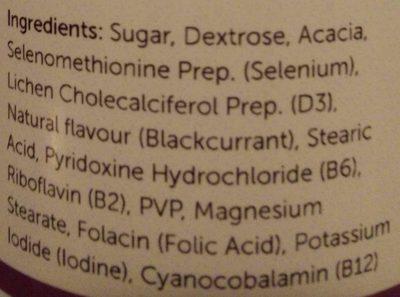 VEG 1 Multivitamin Chewable Tablets - Ingredients - en