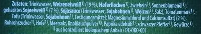Bio Veggie Burger - Ingredients - de