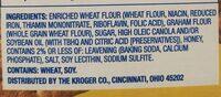 Kroger honey Graham cracker - Ingrediënten - en