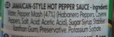 Dunn's River Jamaican Style Hot Sauce - Ingredients - en
