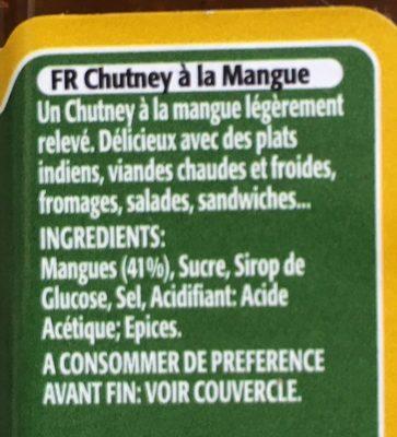 Mango Chutney - Ingrédients