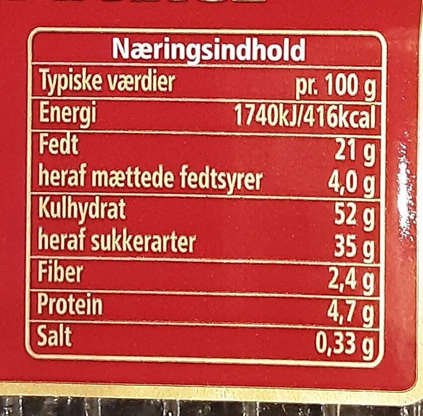 Chokoladekage - Voedingswaarden - da