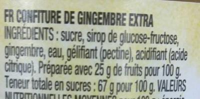 Ginger - Ingrédients - fr