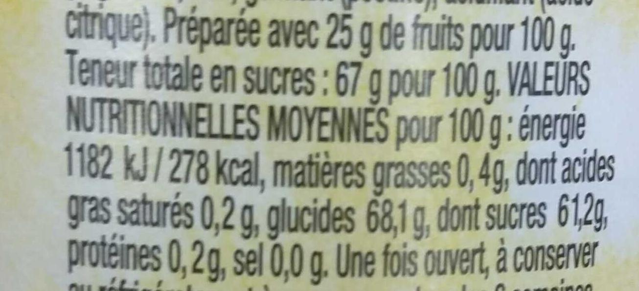 Ginger - Informations nutritionnelles - fr