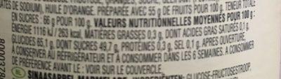 Fruity Orange Marmalade - Informations nutritionnelles - fr