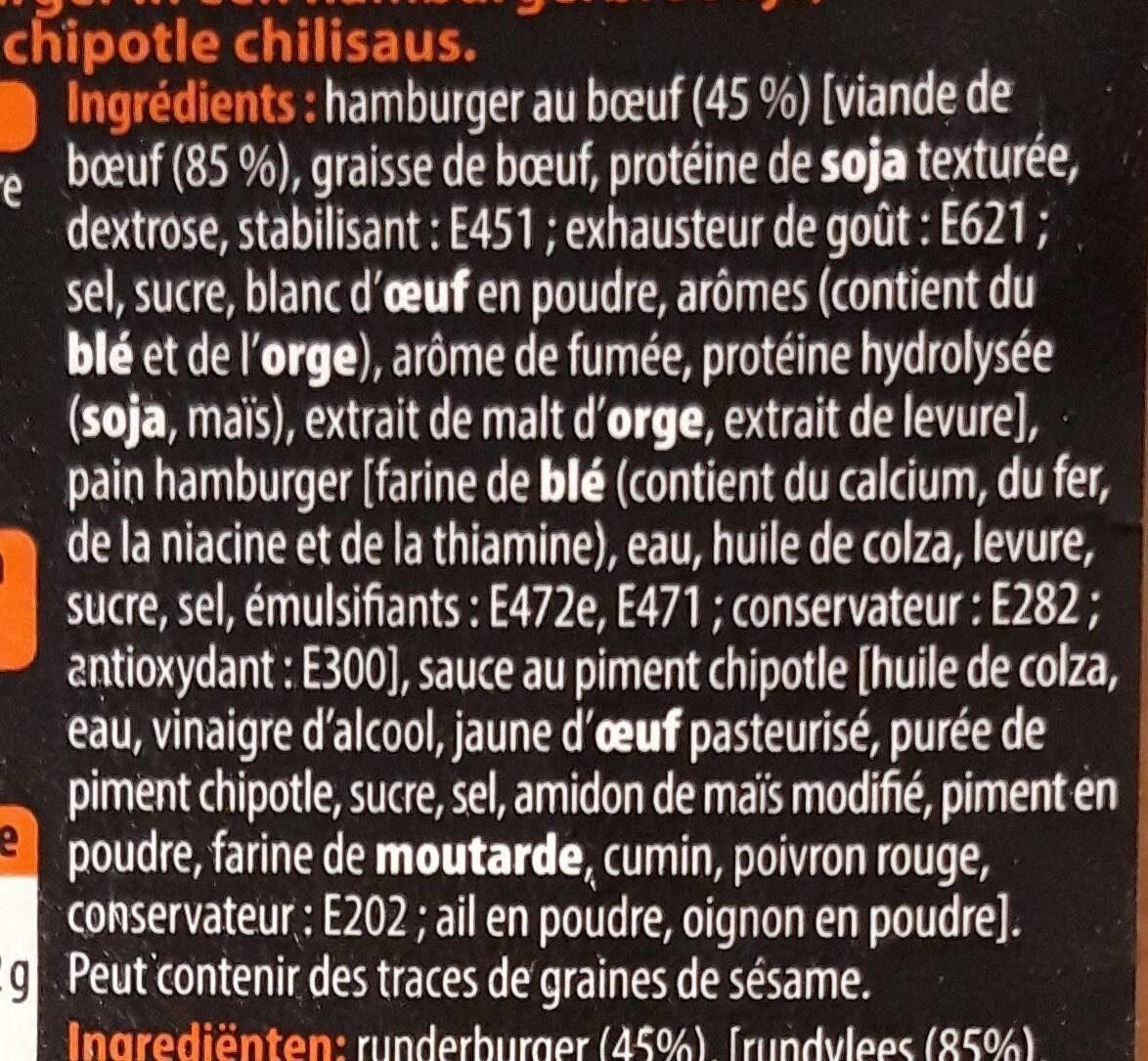 Texan chipotle burger - Ingrediënten - fr