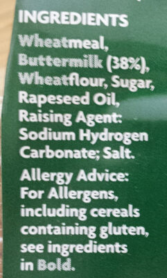 Brown Soda Bread - Ingredientes