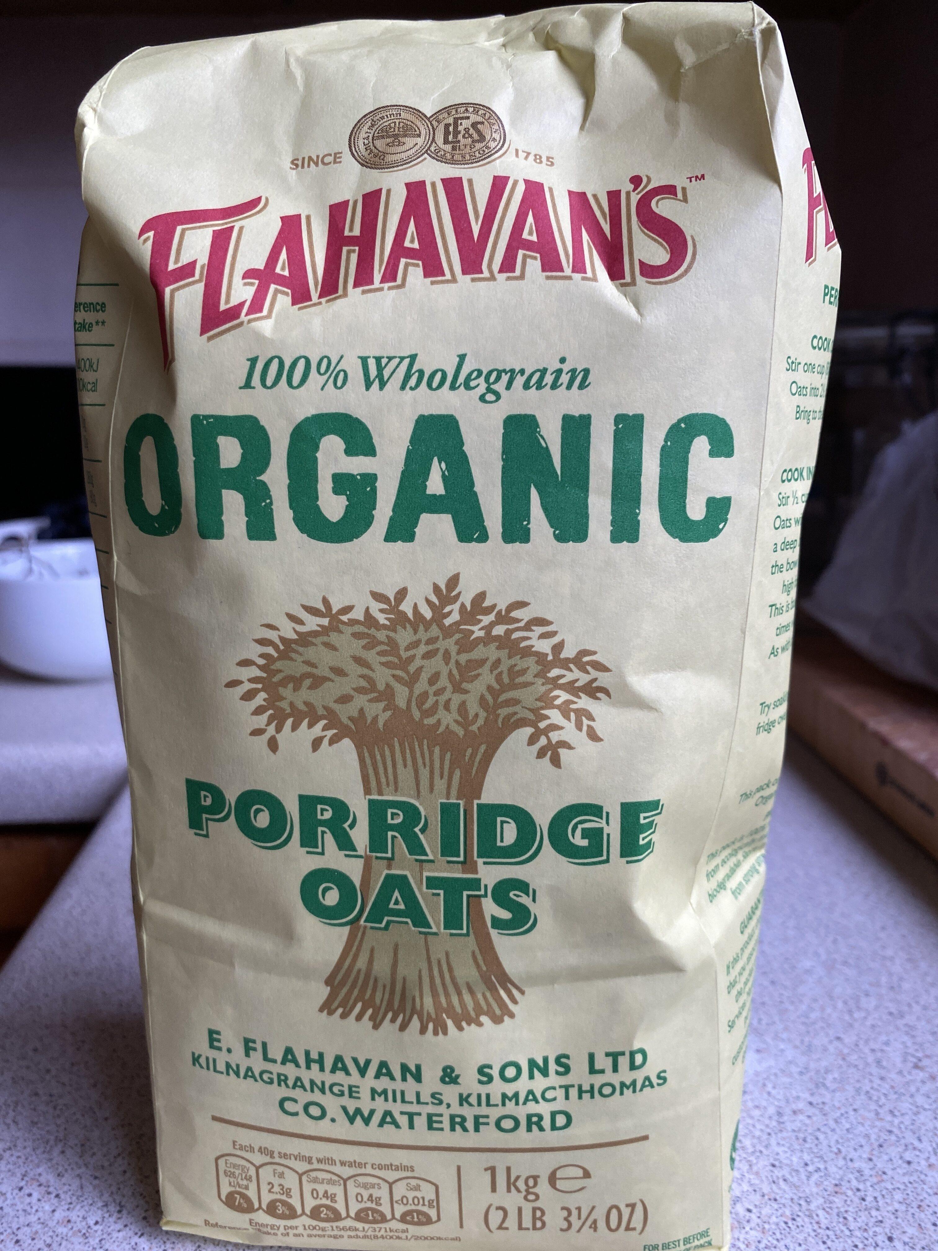 Flahavans Organic Porridge Oats - Product - en
