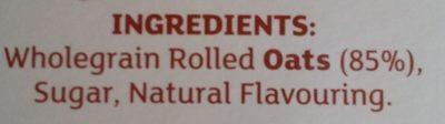 Quick oats - Ingredients - en