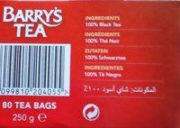 Barry's Tea Gold Blend - Ingrediënten - fr