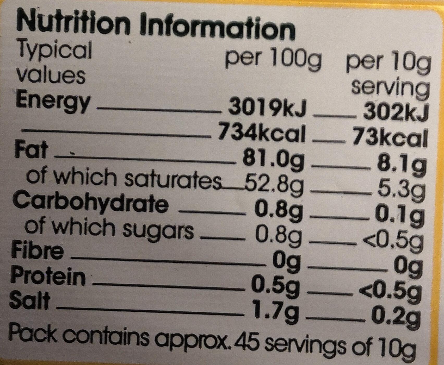 Irish Creamery Butter - Nutrition facts - en