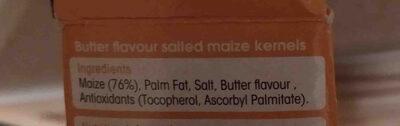 Microwave Butter Flavour Popcorn - Ingredienti - en