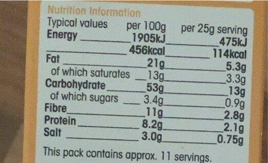 Microwave Butter Flavour Popcorn - Valori nutrizionali - en