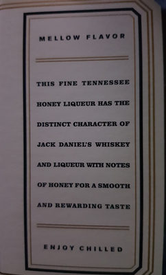Original Recipe Tennessee Honey - Inhaltsstoffe