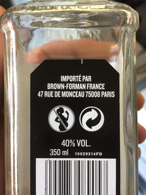Tennessee whiskey - Instruction de recyclage et/ou informations d'emballage - en