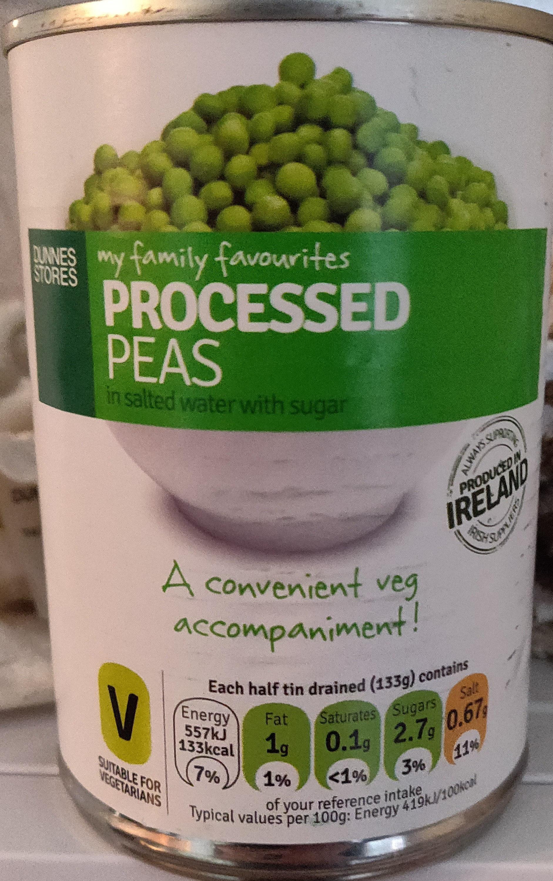 Processed Peas - Produit