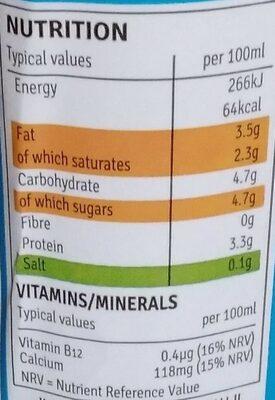 Irish Whole Milk - Nutrition facts - en