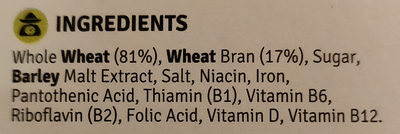 Bran flakes - Ingredients