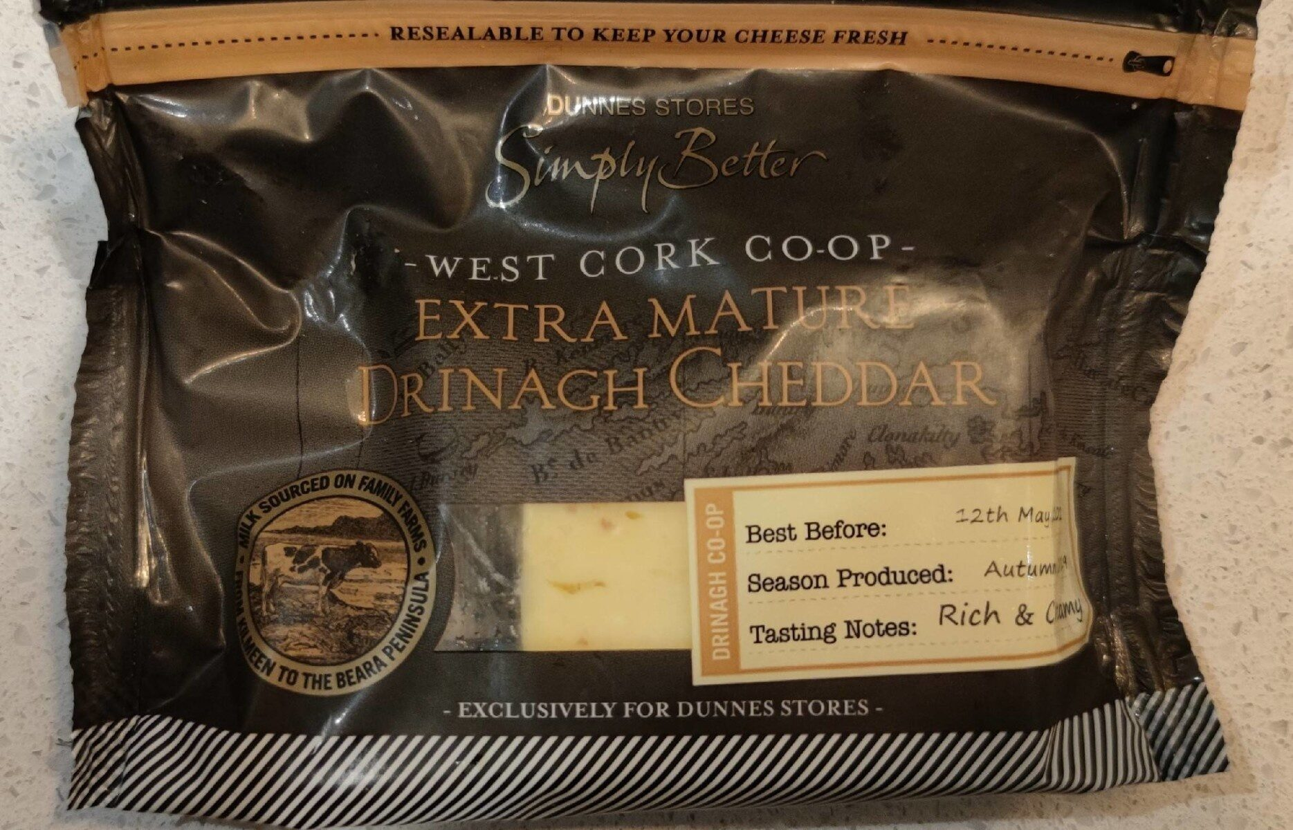 Extra mature Drinagh cheddar - Product - en