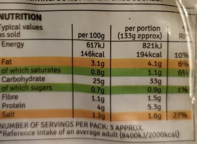 Gnocchi with basil pesto - Nutrition facts - en
