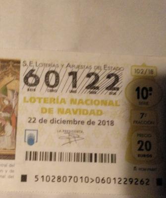 loteria de Navidad - Información nutricional - es