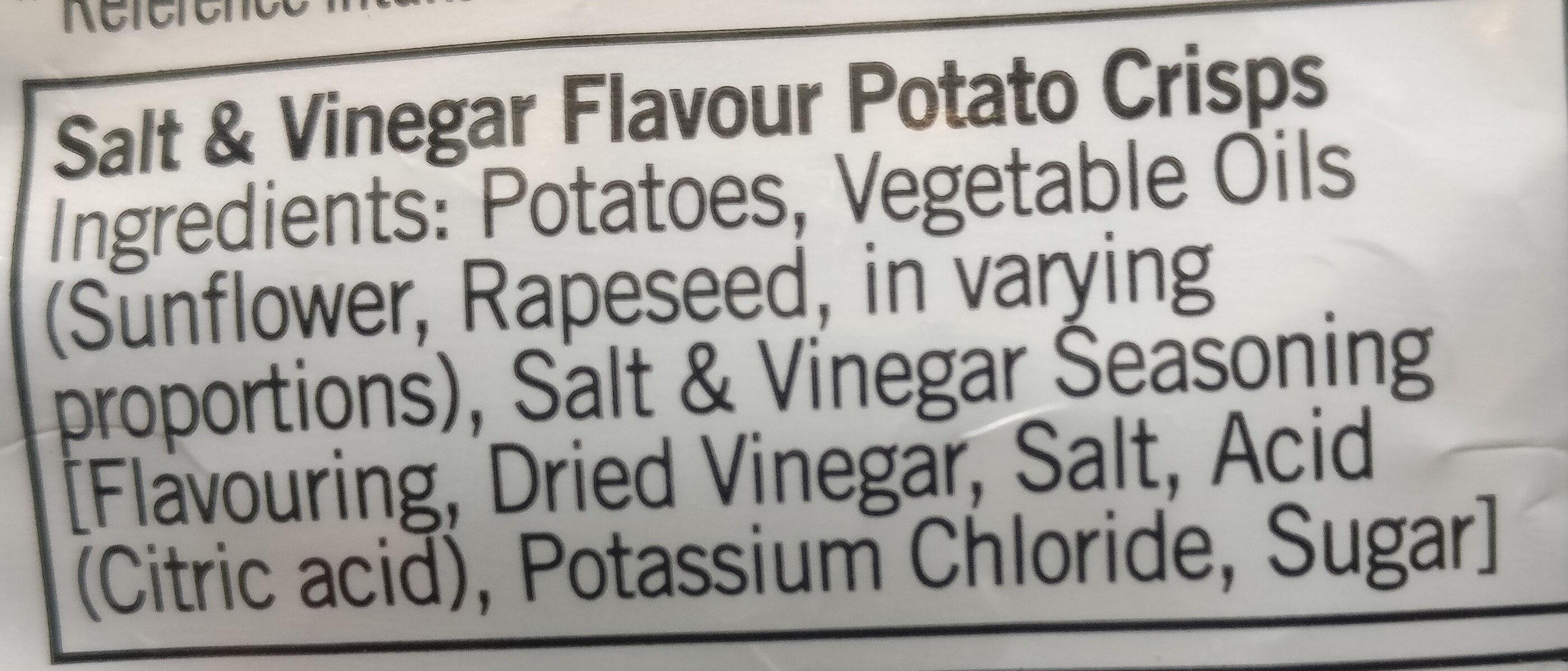 Salt and Vinegar Crisps - Ingredients - en