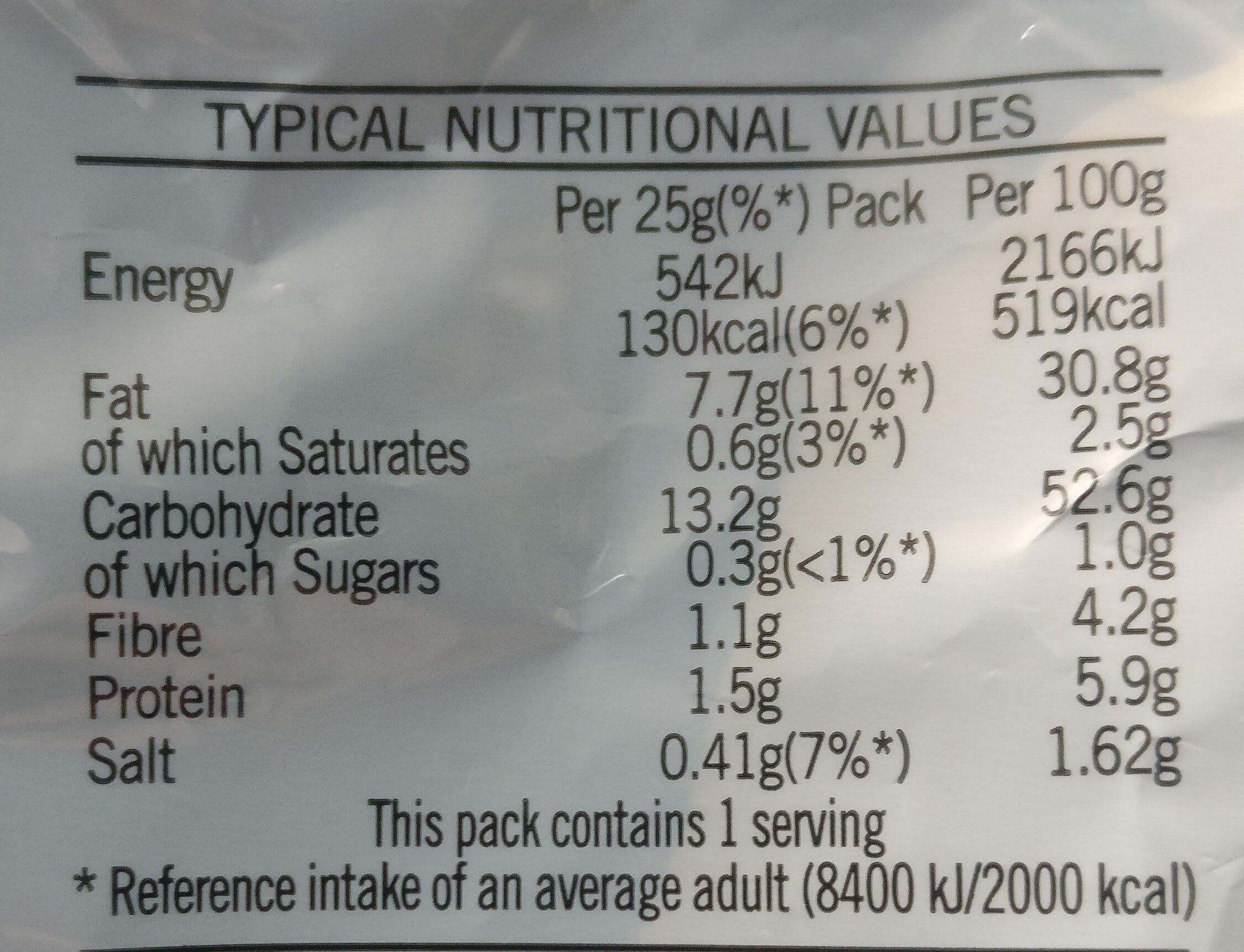 Salt and Vinegar Crisps - Nutrition facts - en