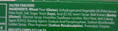 Bakers Salticrax - Ingrediënten - en