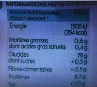 Riz blanc long grain - Ingrédients