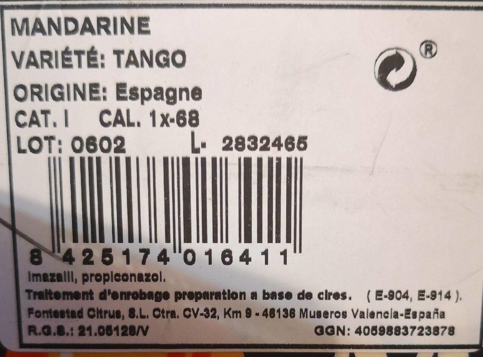 Mandarine - Informations nutritionnelles - fr
