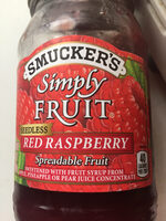 Simply fruit seedless red raspberry - Product