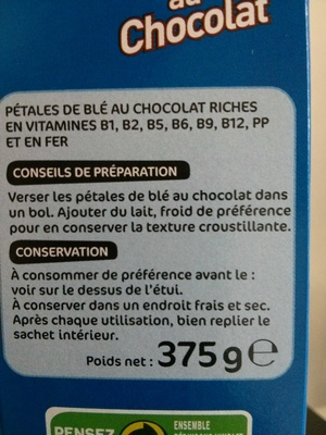 pétales de blé au chocolat - Product