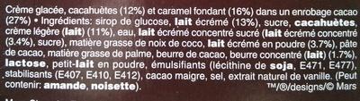 Barres glacées - Ingrédients