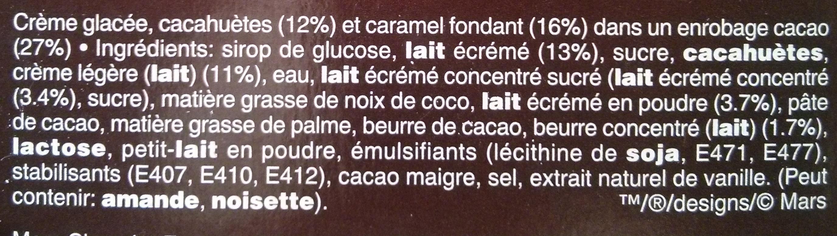 Barres glacées - Ingrédients - fr