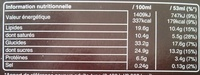 Barres glacées - Informations nutritionnelles - fr