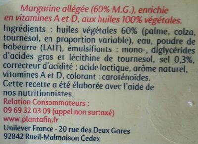 Planta Fin doux - Ingredients