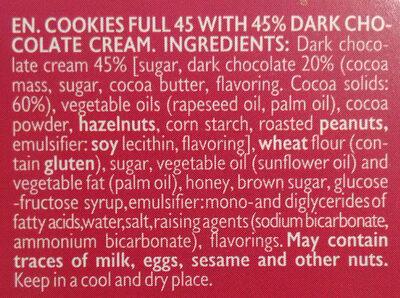 Cookies full 45 - Ingredients - en