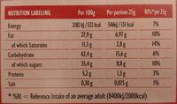 Cookies full 45 - Nutrition facts - en