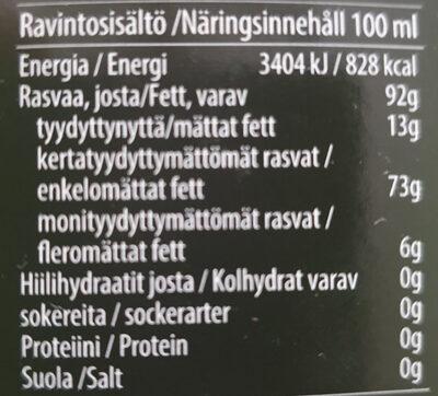 Huile d'olive extra vierge bio - Ravintosisältö - fr