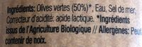 Olives vertes denoyautees - Ingrediënten