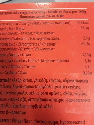 Baklavas - Ingredients - fr