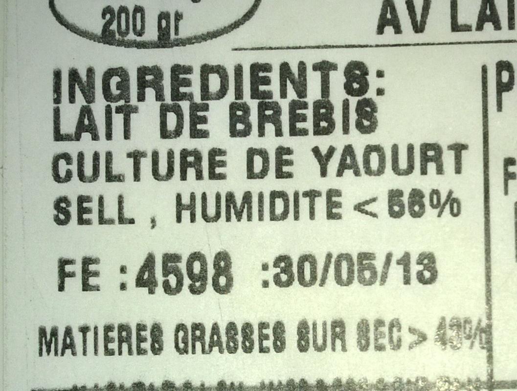 Authentic Greek Feta - Informations nutritionnelles - fr