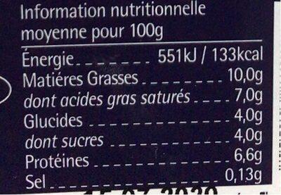 Yaourt grec - Informations nutritionnelles - fr