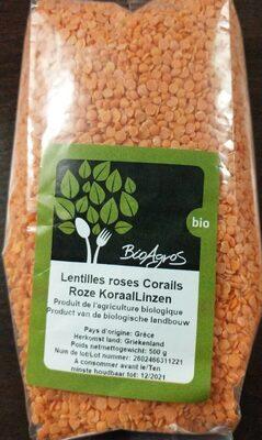 Lentilles roses corails - Produit - fr