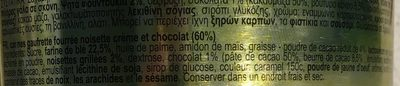 Hazelnut chocolate - Ingrédients - fr