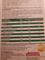 Μπισκοτα βρωμης με σοκολατα - Informations nutritionnelles - el