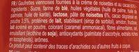 Caprice - Ingredients
